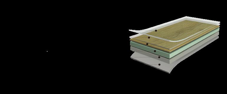 Struktura vinylových desek (podlah)